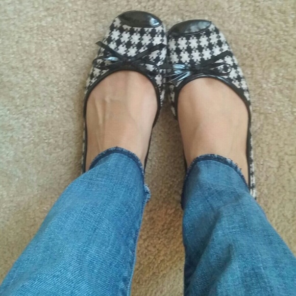 Sam & Libby Shoes - Sam & Libby twill checkered ballet flats sz.7